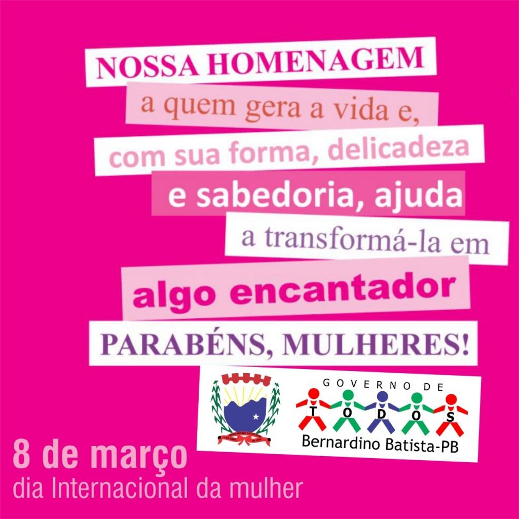 Mensagem do Prefeito Gervazio Gomes ao Dia Internacional da Mulher!