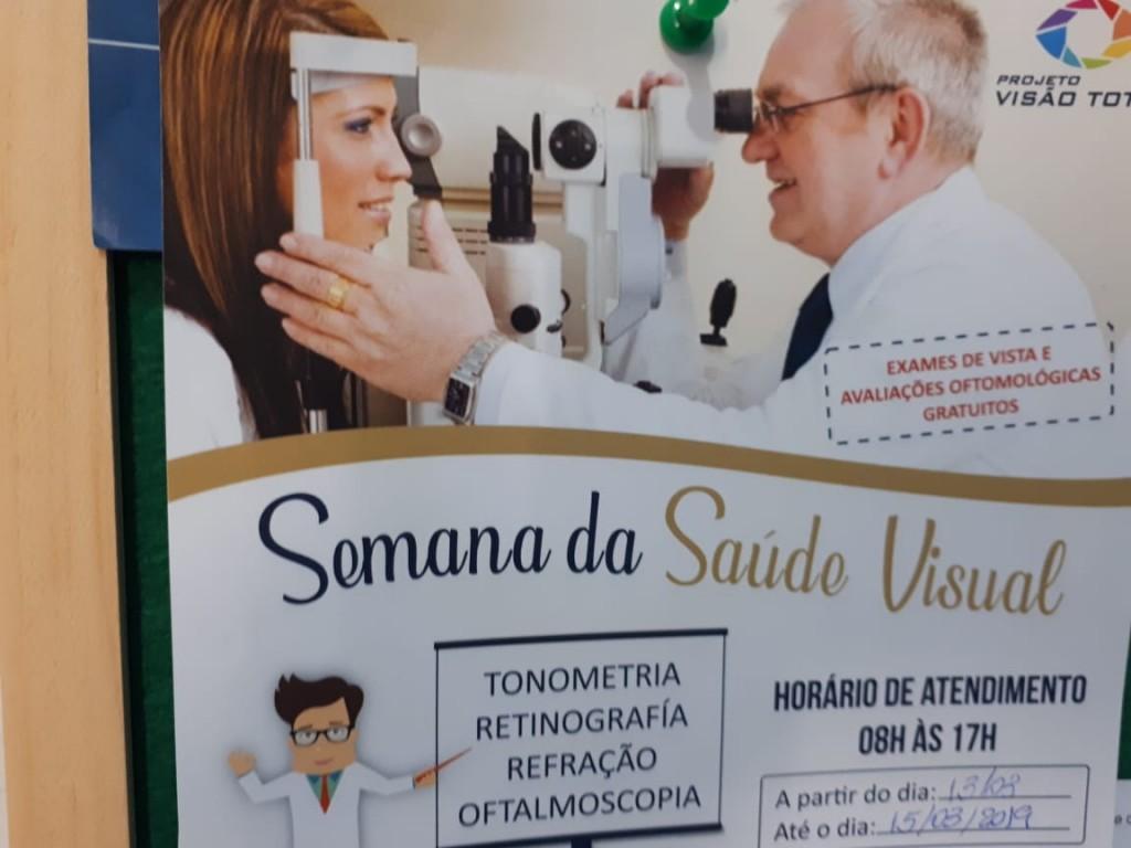 """Semana da Saúde visual com o Projeto """"Visão Total"""" mobilizará Bernardino Batista"""