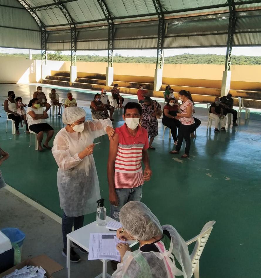 Secretaria de Saúde intensifica vacinação h1n1 e COVID 19 em Bernardino Batista