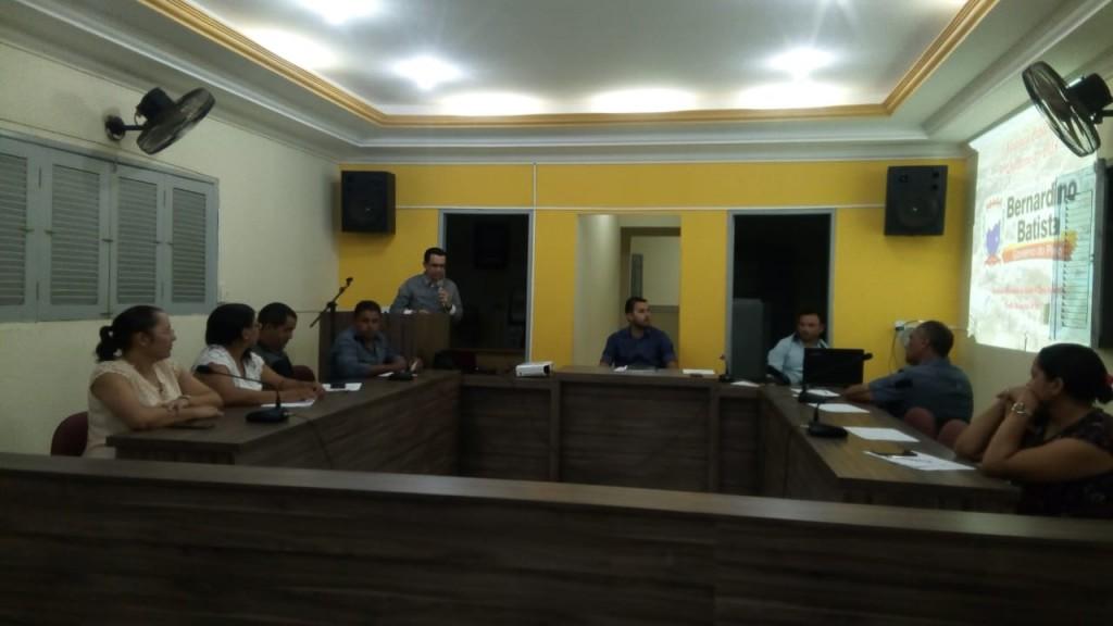 Secretaria de Saúde presta contas em audiência na Câmara de Vereadores de Bernardino Batista
