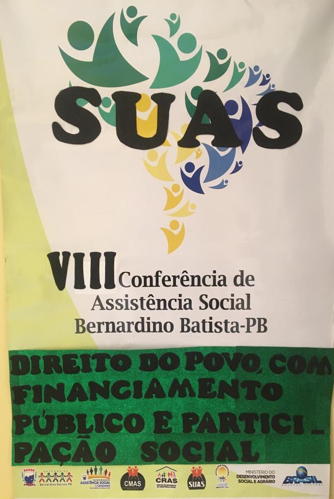 VIII Conferencia municipal  de Assistência Social é realizada em Bernardino Batista