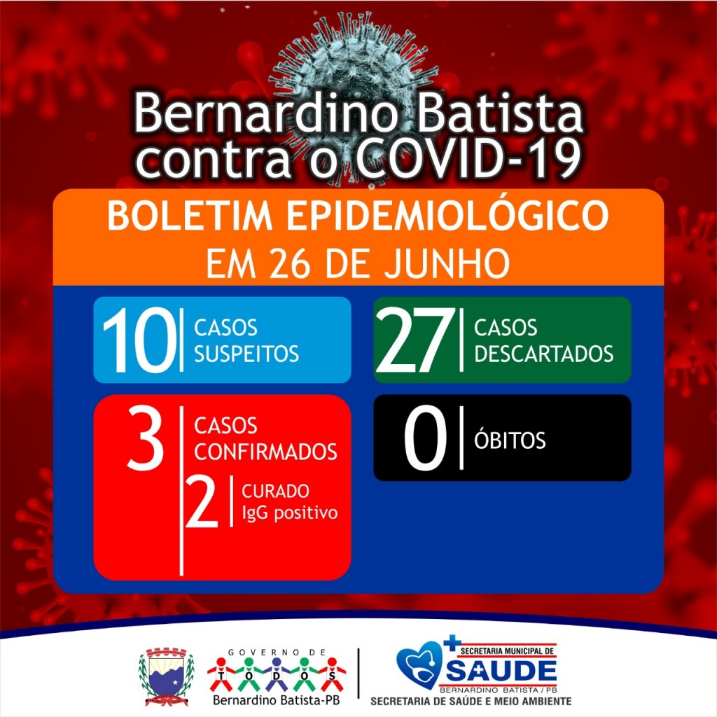 DEPARTAMENTO DE VIGILÂNCIA EMITE BOLETIM  EPIDEMIOLÓGICO