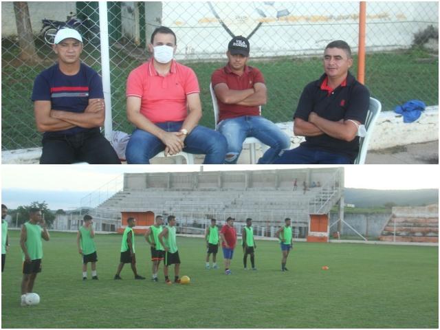 Aldo Andrade visita projeto esportivo que será implantado em Bernardino Batista