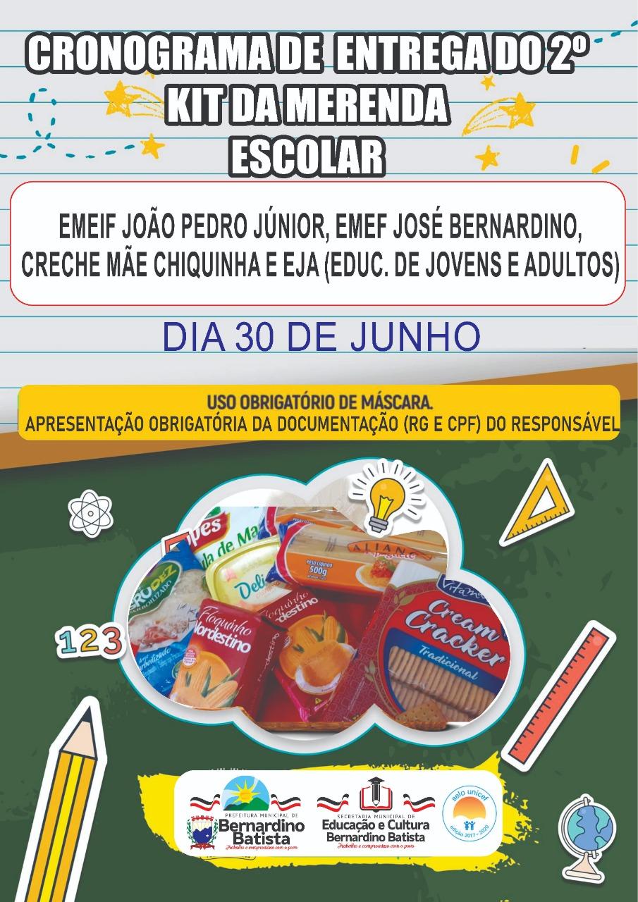 Prefeitura de Bernardino Batista se prepara para entrega do segundo kit da merenda escolar do ano