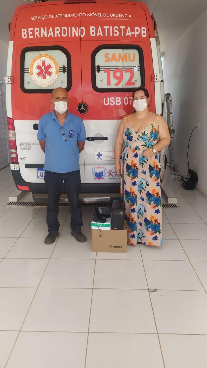 Bernardino Batista: Base da SAMU  recebe nova instalação dos rádios de comunicação da Empresa OLM
